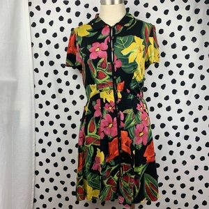 Urban Outfitters Floral Print Button Down Dress